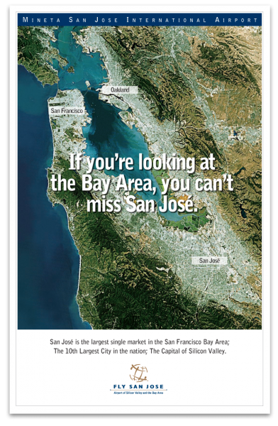 San Jose International Airport Direct Mail Poster