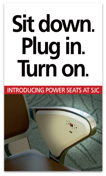 San Jose International Airports Power Seats