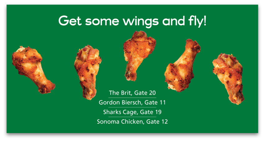 San Jose International Airport Wings Ad