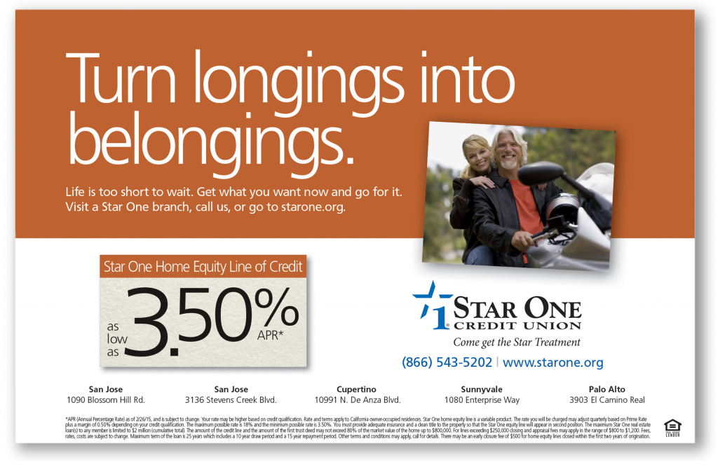 Star One Credit Union Belongings Ad