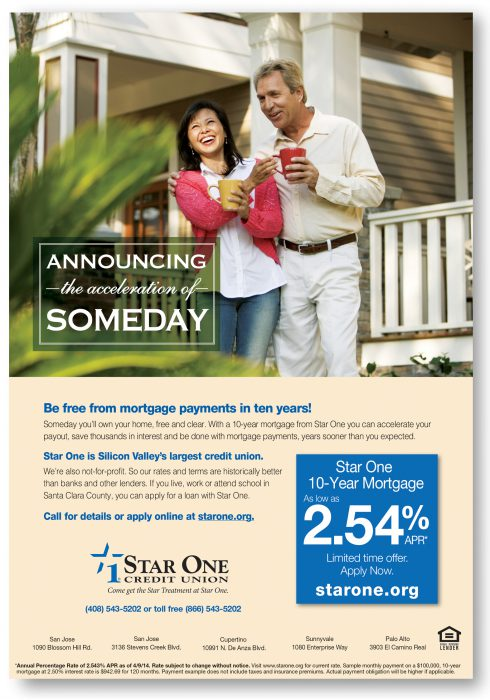 Star One Credit Union Announcing Someday Ad