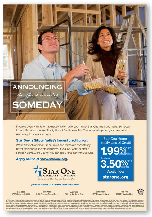 Star One Credit Union Someday Ad